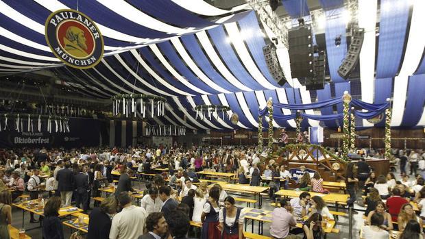 Celebración del Oktoberfest en Madrid