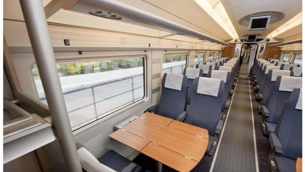 Fotos del interior de una tren de alta velocidad