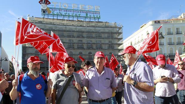 Protestas de los trabajadores de Isolux