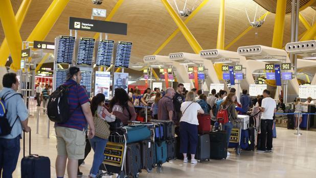 Imagen del aeropuerto de Barajas