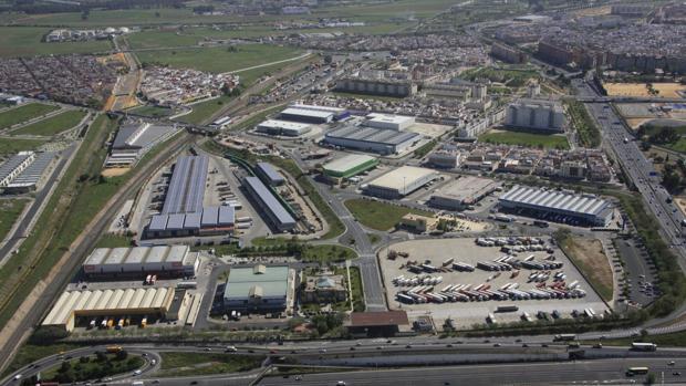 Vista aérea del Centro de Transportes de Mercancías de Sevilla (CTM)