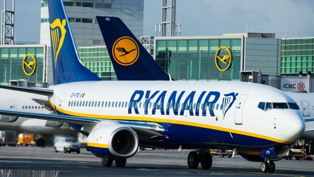 Fotografía de archivo de un avión de Ryanair