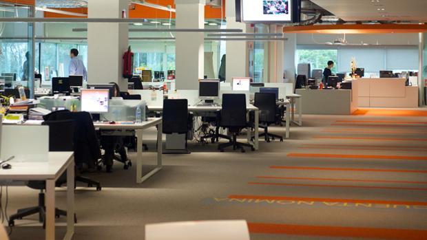 Interior de la sede en España de ING Direct