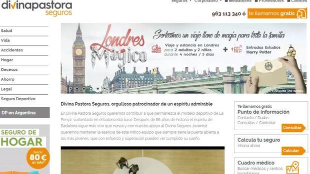 Página web de Divina Pastora