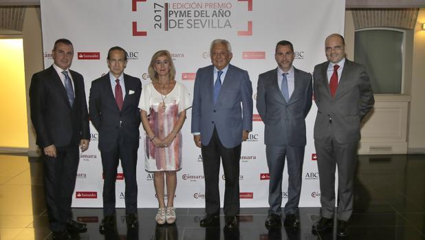 Javier luque, José J. Perez Tabernero, Isabel Cruadado, Francisco Herrero, Cristian Luque y Justiniano Cortés