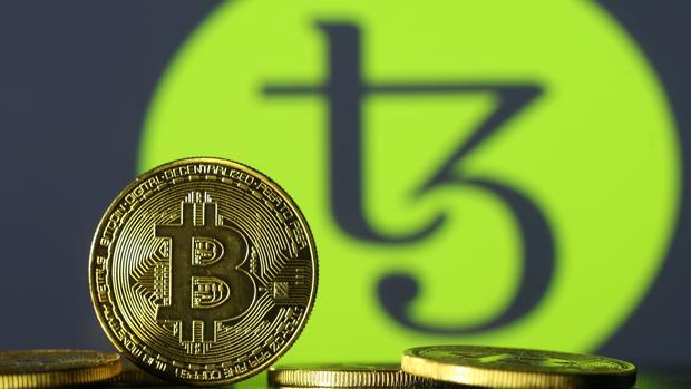 Imagen de una moneda de bitcoin