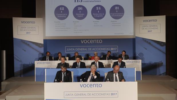 Junta de accionistas de Vocento en 2017