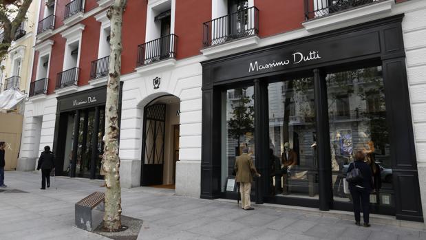 Tiendas de lujo en la «milla de oro» de Madrid