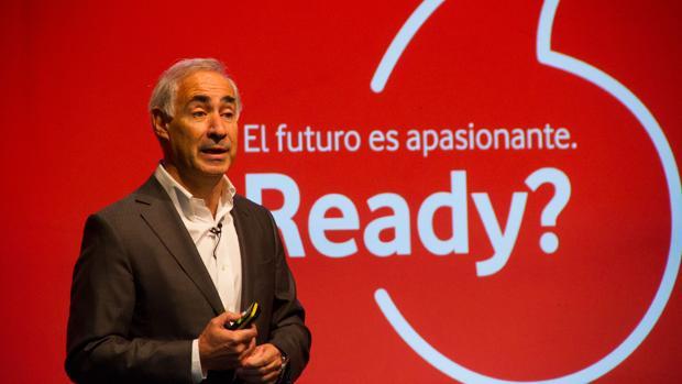 El consejero delegado de Vodafone España, António Coimbra, este martes en rueda de prensa