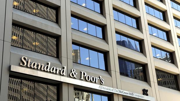 Las oficinas de la agencia de medición de riesgos Standard & Poors (S&P) en Nueva York