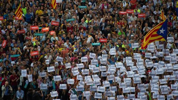 Manifestación en Cataluña el pasado octubre