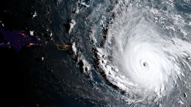 Imágen de satélite del Huracán Irma sobre El Caribe