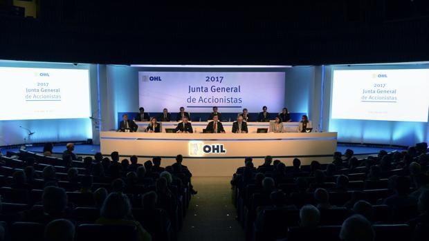 El grupo OHL, durante su junta general de accionistas