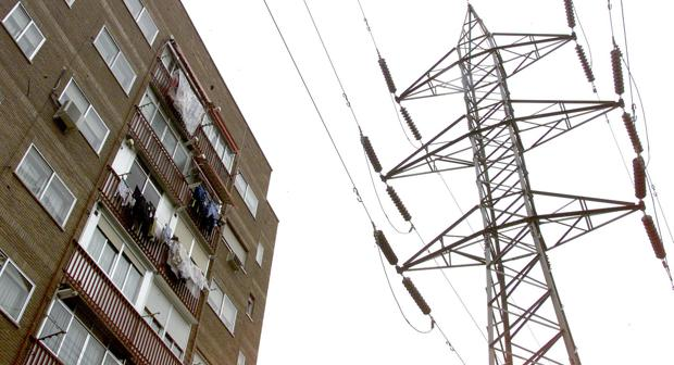 Tendido eléctrico en la capital de España