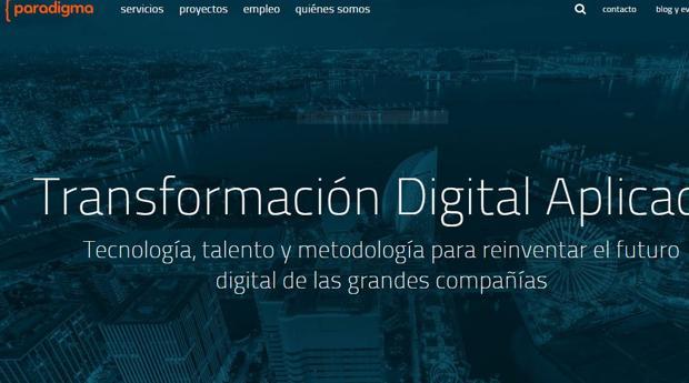 Página web de Paradigma Digital