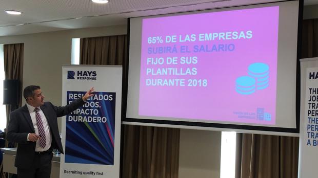 Christopher Dettie, director general de Hays España, durante la presentación de la guía