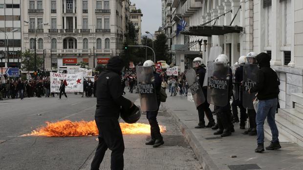 Las protestas por las reformas del Gobierno se han sucedido en los últimos días en Atenas
