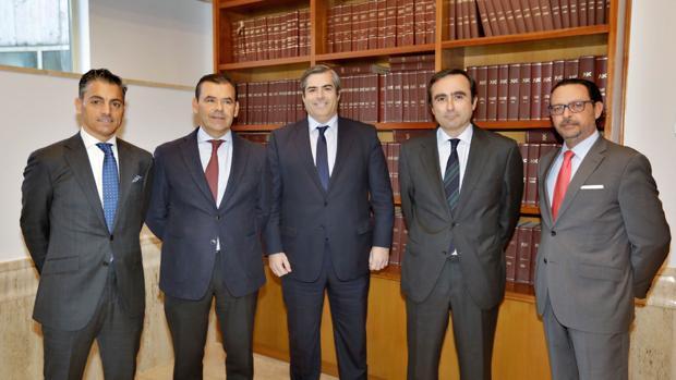 Diego Chacón Martínez, Ramiro Moreno Calero, José Ortiz Pereira, Francisco Pumar López y José Luis Rodríguez Valdivieso