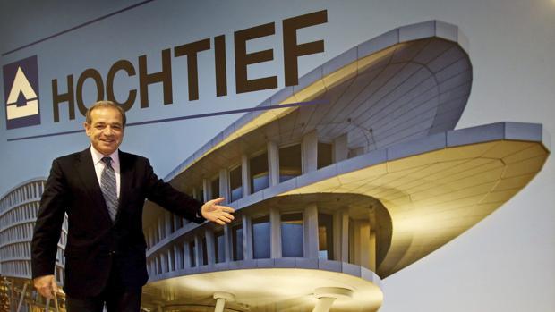 El CEO de Hochtief, Marcelino Fernández Verdes, anuncia los resultados de la compañía en Düsseldorf (Alemania)
