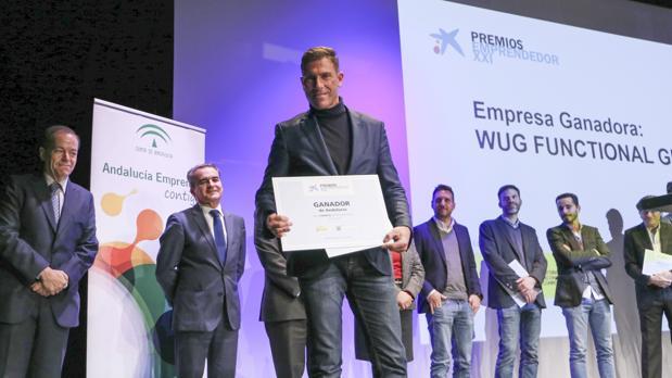 José Luis Rojano, uno de los socios de WUG, tras ser proclamado ganador del Premio EmprendedorXXI