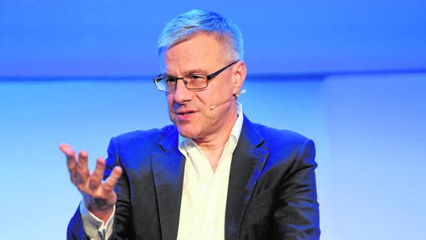 Alain Dehaze, durante su intervención en el Foro Económico Mundial