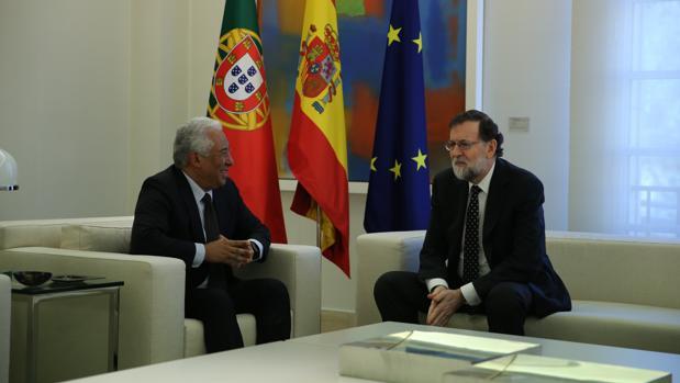 Mariano Rajoy con el primer ministro luso, Antonio Costa