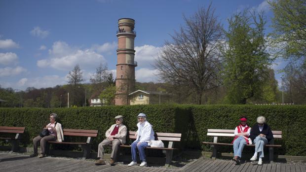 Jubilados en la costa Norte de Alemania