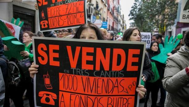 Marcha de afectados por la hipoteca