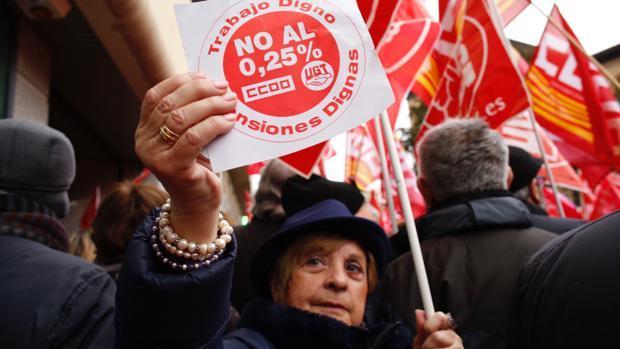 Protestas de pensionsitas la semana pasada