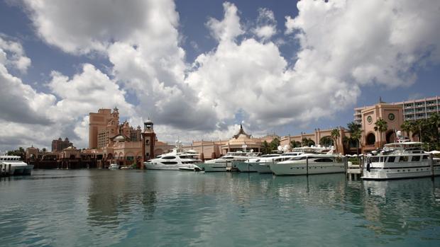 Vista del Hotel Atlantis en Paradise Island, en Bahamas