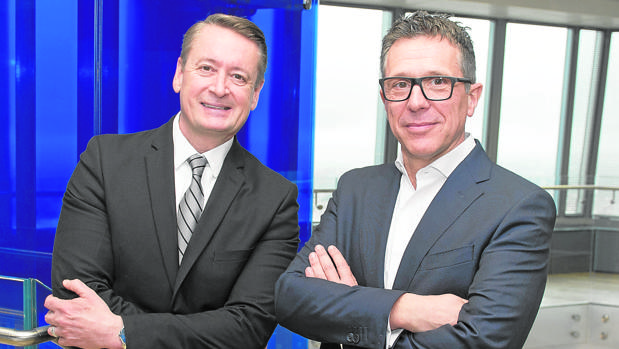 Tim Mohin y José Luis Blasco, en un momento de la entrevista