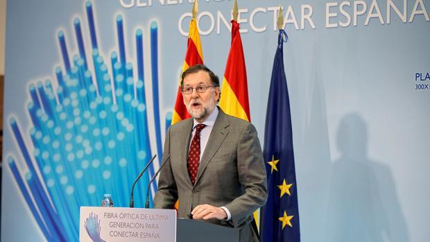 El presidente de Gobierno, Mariano Rajoy, ayer en Teruel