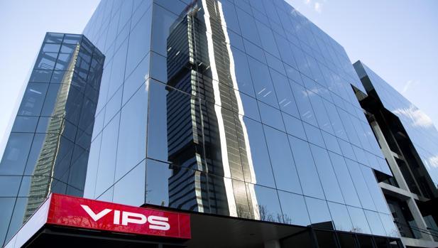 Fachada de la sede central del Grupo VIPS