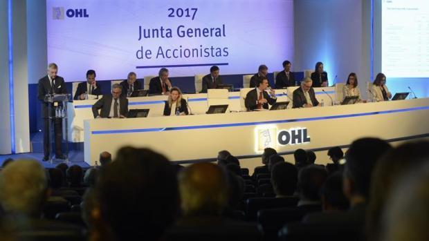 La junta de accionistas de OHL celebrada el pasado mayo