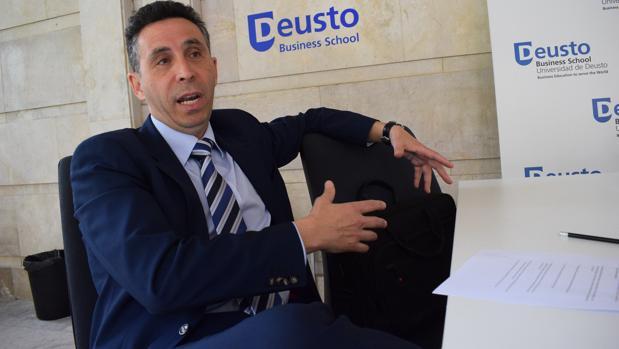 Manuel Domínguez de la Maza, director general de Mayoral, hace unos días en Madrid