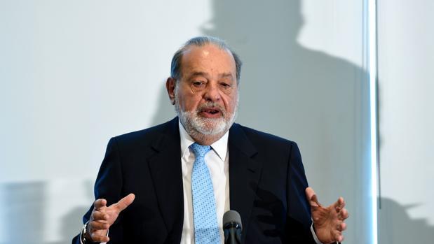 Carlos Slim, durante una conferencia