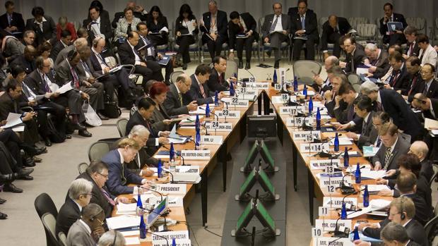 Imagen de archivo de una reunión entre el Banco Mundial y el Fondo Monetario Internacional
