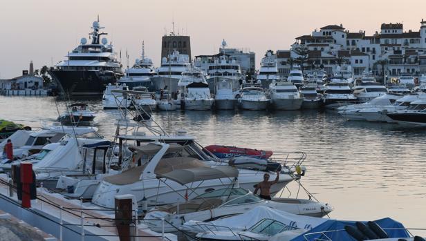 Puerto Banús, en la localidad malagueña de Marbella