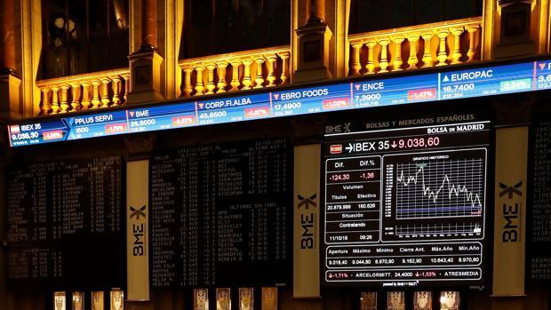 La Bolsa de Madrid, ayer