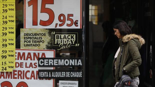 Los descuentos del Black Friday oscilarán entre el 20 y el 30% en las tiendas a pie de calle