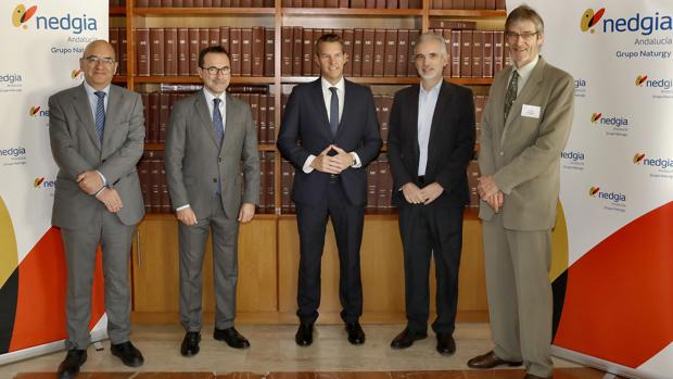 Miguel Ángel Baquedano, Rubén García Lancharro, Francisco Bueno, Aquilino Alonso y Frank Rogalla