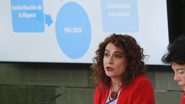 La ministra de Hacienda, María Jesús Montero, durante la rueda de prensa posterior a la reunión del Consejo de Ministros.