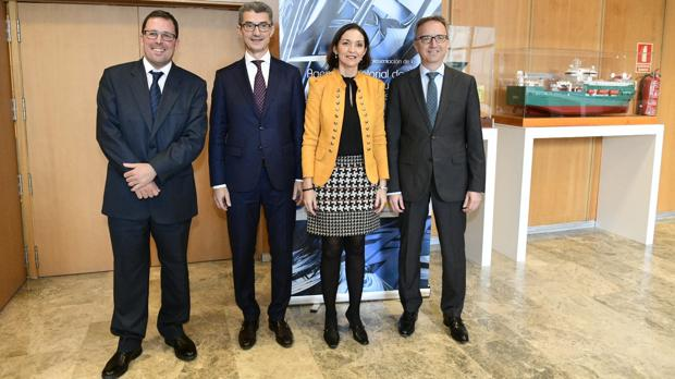 Raül Blanco, Carles Navarro, Reyes Maroto y Luis Aires, hoy