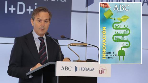 El consejero de Hacienda, Industria y Energía, Alberto García Valera, clausuró el acto en la Casa de ABC de Sevilla