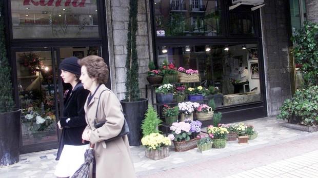 Una floristería en Madrid