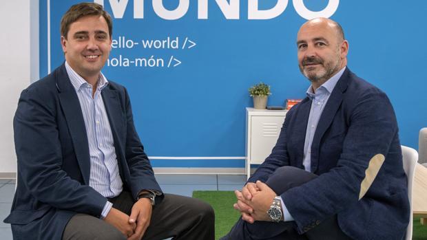 Tomás García-Figueras -a la izquierda- y Rafael Selma, socios fundadores de SDOS, acaban de vender la empresa a la consultora francesa Alten