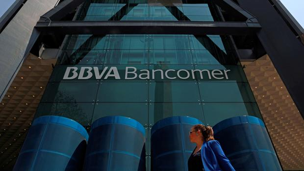 Fachada principal de la sede central de la filial mexicana de BBVA