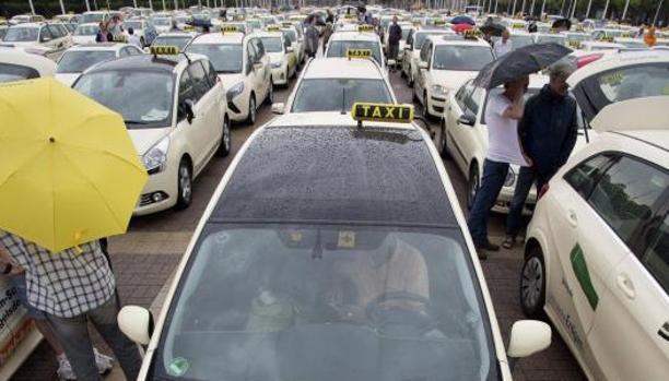 Protesta de taxistas en Berlín