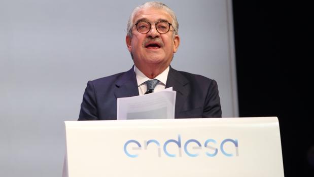 El consejero delegado de Endesa, José Bogas, en la reciente junta de accionistas