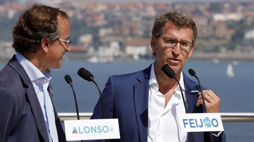 Con su amigo y compañero Alberto Núñez Feijóo